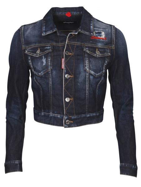 Women's Dsquared Denim Jacket Blue Washed